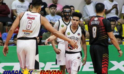 Tiebreaker Times Bacolod remains in MPBL playoff race, cools down Alday in OT Basketball MPBL News  Yankie Haruna Vic Ycasiano Ralph Tansingco Pao Javelona mar villahermosa JR Ongteco Jopher Custodio Chris Lalata Bicol Volcanoes Ben Adamos Bacolod Masters Alwin Alday 2019-20 MPBL Lakan Cup