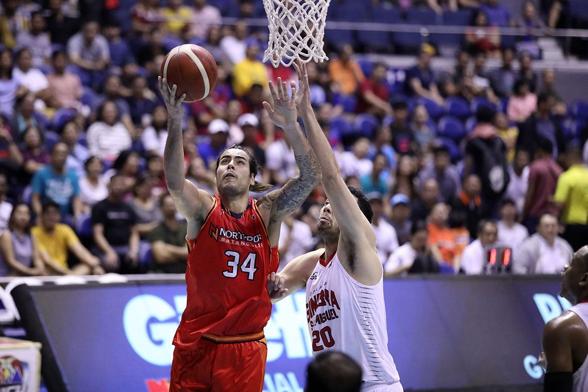 Tiebreaker Times Ultimate pro Standhardinger plays through illness, fatigue Basketball News PBA  PBA Season 44 Northport Batang Pier Christian Standhardinger 2019 PBA Governors Cup