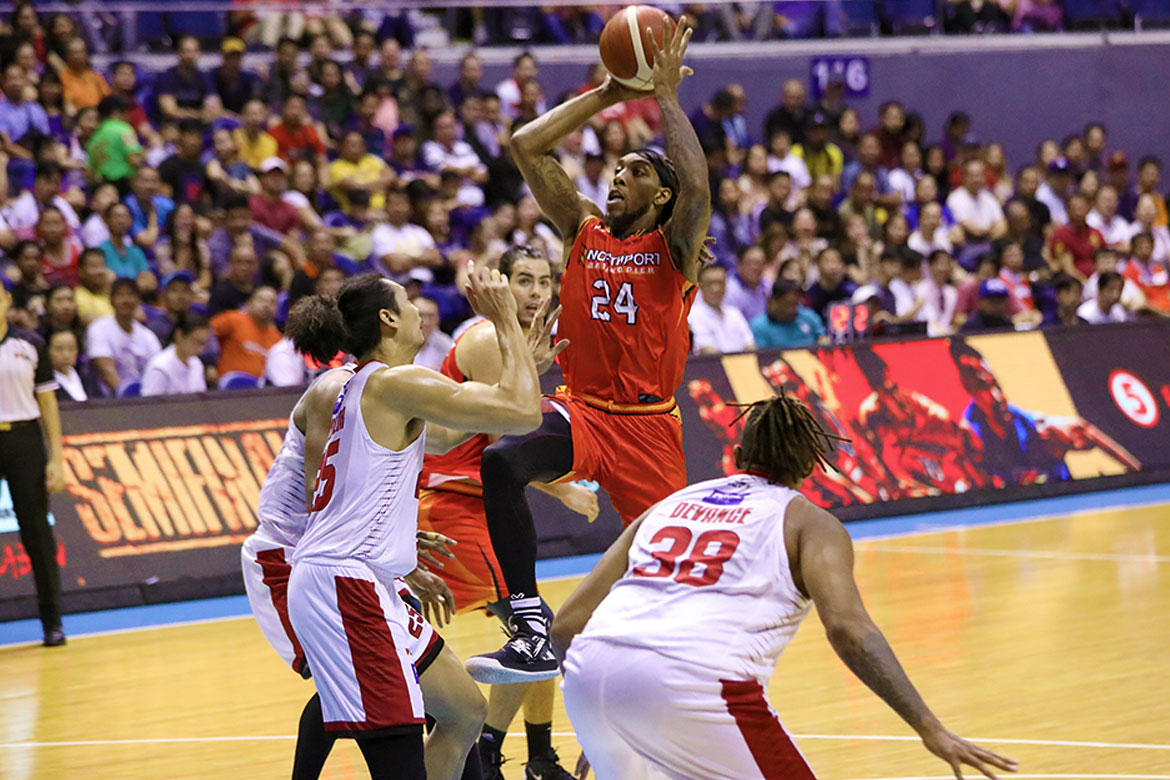 Tiebreaker Times Michael Qualls calls on Northport to brace for Ginebra comeback Basketball News PBA  PBA Season 44 Northport Batang Pier Michael Qualls 2019 PBA Governors Cup