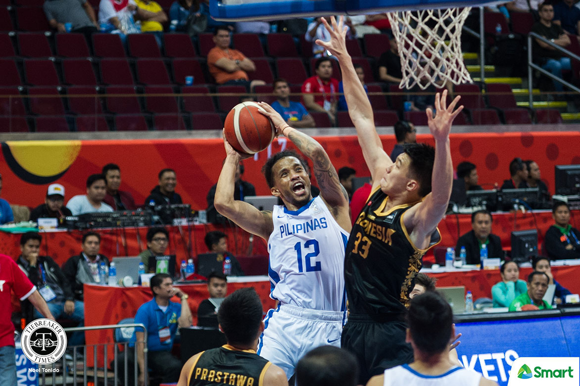 Tiebreaker Times Chris Ross takes charge vs INA as Gilas Pilipinas advance to SEAG finals 2019 SEA Games Basketball Gilas Pilipinas News  Vic Manuel Tim Cone Rajko Toroman Matthew Wright Juan Laurent Kokodeputra Indonesia (Basketball) Christian Standhardinger Chris Ross 2019 SEA Games - Basketball 2019 SEA Games