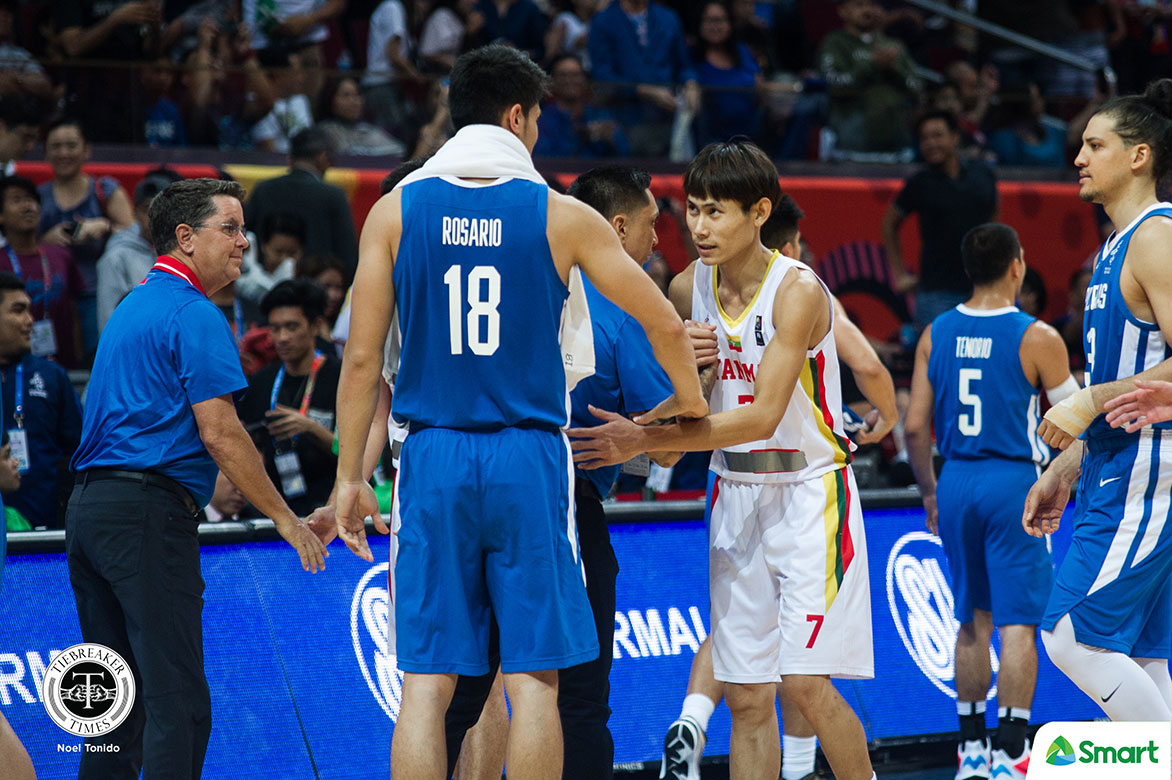 Tiebreaker Times Gilas kept going hard against Myanmar to help their program, says Tim Cone 2019 SEA Games Basketball Gilas Pilipinas News  Tim Cone Myanmar (Basketball) Gilas Pilipinas Men 2019 SEA Games - Basketball 2019 SEA Games