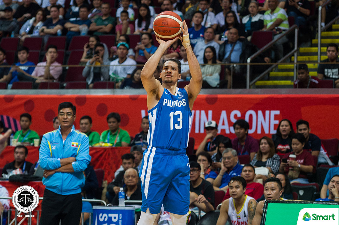 Tiebreaker Times Wright, Lassiter lead 69-point demolition of Myanmar as Gilas go to 3-0 in SEAG 2019 SEA Games Basketball Gilas Pilipinas News  Troy Rosario Tim Cone Myanmar (Basketball) Matthew Wright Marcio Lassiter Kiefer Ravena Japeth Aguilar Greg Slaughter Gilas Pilipinas Men 2019 SEA Games - Basketball 2019 SEA Games