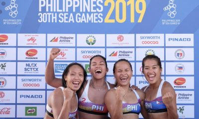 Tiebreaker Times Charo Soriano proud of PH Beach Volleyball's stand in SEAG 2019 SEA Games Beach Volleyball News  Jude Garcia Jaron Requinton James Buytrago Edmar Bonono Dzi Gervacio Cherry Rondina Bernadeth Pons 2019 SEA Games - Beach Volleyball 2019 SEA Games