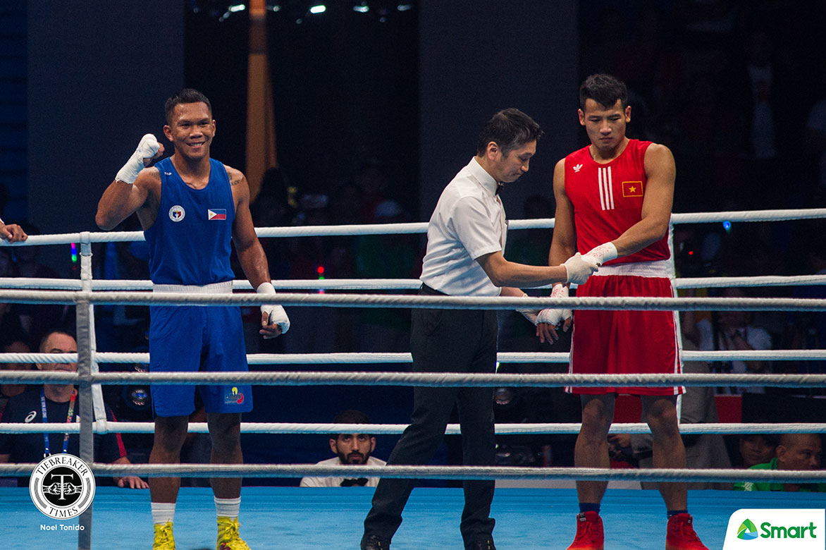 Tiebreaker Times Eumir Marcial needs just 71 seconds to win SEAG FW crown 2019 SEA Games Boxing News  Eumir Marcial 2019 sea games - boxing 2019 SEA Games