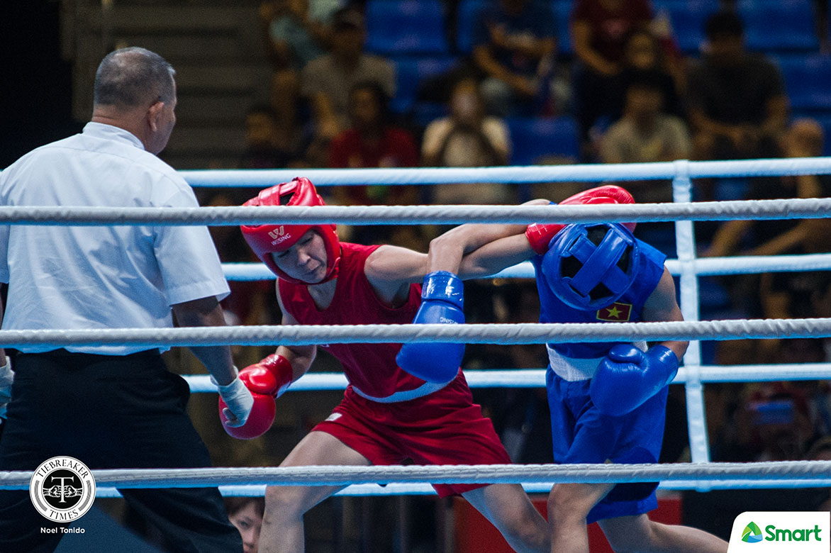 Tiebreaker Times Gabuco, Paalam, Marcial advance to SEAG boxing finals 2019 SEA Games Boxing News  Josie Gabuco Ian Clark Bautista Eumir Marcial carlo paalam Aira Villegas 2019 sea games - boxing 2019 SEA Games