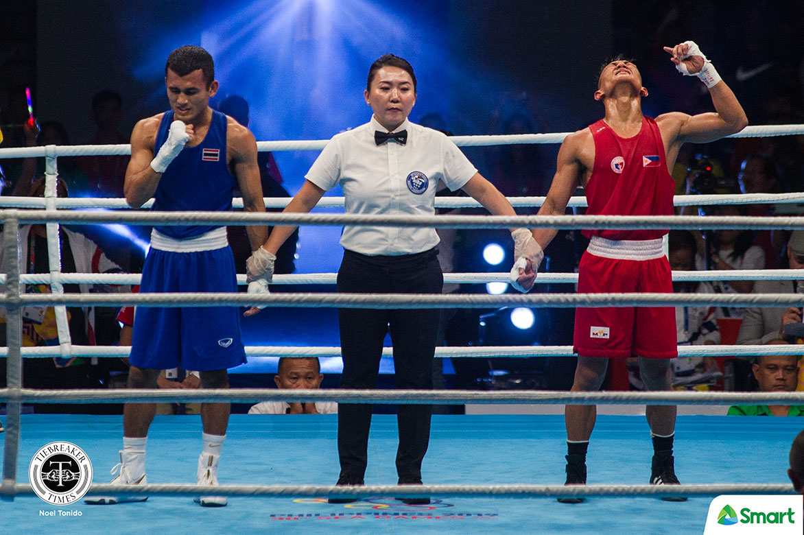 Tiebreaker Times Rogen Ladon is flyweight king, cops first SEAG gold 2019 SEA Games Boxing News  Rogen Ladon Irish Magno 2019 sea games - boxing 2019 SEA Games