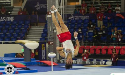 Tiebreaker Times Caloy Yulo takes silver in vault for fifth SEAG medal 2019 SEA Games Gymnastics News  Caloy Yulo 2019 SEA Games - Gymnastics 2019 SEA Games