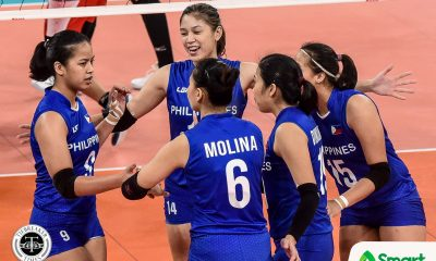 Tiebreaker Times PWVNT succumbs to Indonesia, comes up empty-handed in SEAG 2019 SEA Games News Volleyball  Shaq delos Santos Rhea Dimaculangan Philippine Women's National Volleyball Team Mylene Paat Mika Reyes Jovelyn Gonzaga Indonesia (Volleyball) Hany Budiarti Hangestri Pertiwi Eya Laure Ces Molina Arsela Nuari Purnama Alyssa Valdez 2019 SEA Games