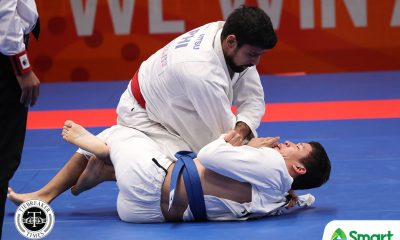 Tiebreaker Times Guggenheim makes quick work of INA opponent to win PH's fifth SEAG jiujitsu gold 2019 SEA Games Brazilian Jiu Jitsu News  Peter Meimban Luigi Ladera Adrian Guggenheim 2019 SEA Games - Jiu Jitsu 2019 SEA Games