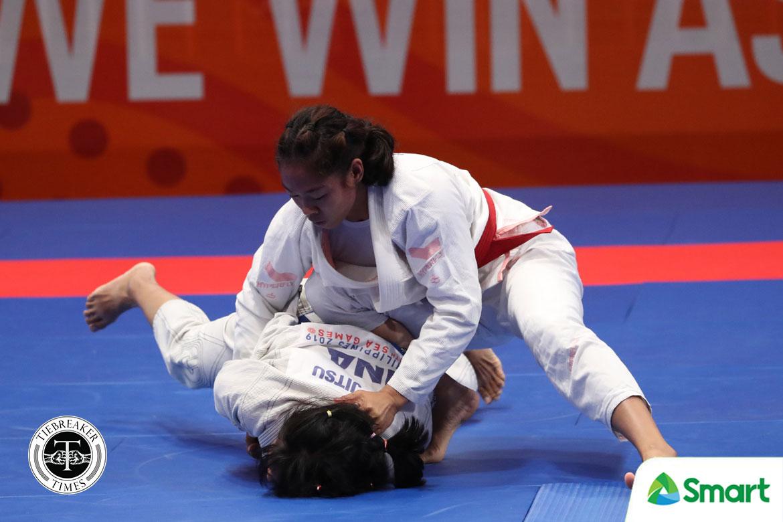 Tiebreaker Times Annie Ramirez overcomes Malaysian foe to cop SEAG 55kg jiujitsu gold 2019 SEA Games Brazilian Jiu Jitsu News  Apryl Eppinger Annie Ramirez 2019 SEA Games - Jiu Jitsu 2019 SEA Games
