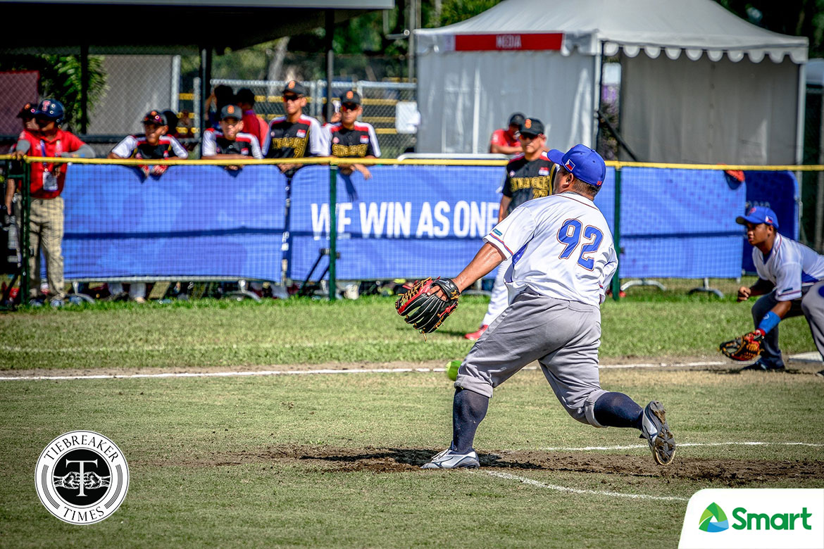 2019-sea-games-mens-singapore-def-philippines-marlin-pagkaliwagan PH Baseball, RP Blu Girls advance to SEAG Finals, Blu Boys drop to semis 2019 SEA Games Baseball News Softball  - philippine sports news