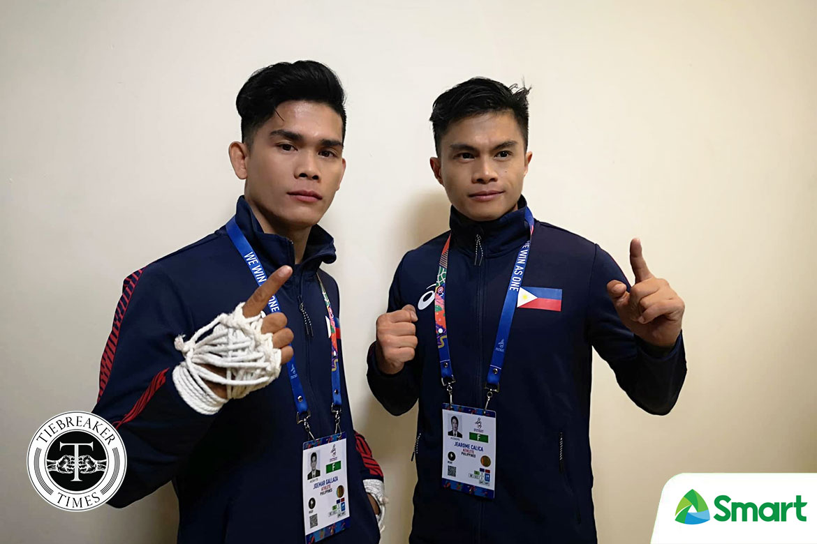 Tiebreaker Times Calica-Gallaza defy odds, rule SEA Games waikru meet 2019 SEA Games Muay Thai News  Rusha Bayacsan Joemar Gallaza Jearome Calica Irendin Lepayan 2019 sea games - muay thai 2019 SEA Games