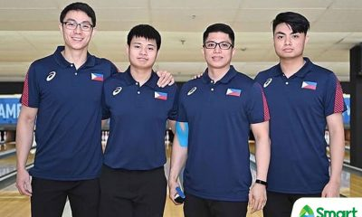 Tiebreaker Times Filipino keglers finish outside top three in SEA Games Bowling doubles 2019 SEA Games Bowling News  Timmy Tan Patrick Nuqui Merwin Tan Kenneth Chua Frederick Ong 2019 SEA Games - Bowling 2019 SEA Games
