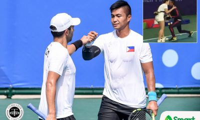 Tiebreaker Times Ruben Gonzales might have lost on SEAG gold but gets yes from fiance Bumgarner 2019 SEA Games News Tennis Track & Field  Ruben Gonzales Michele Bumgarner 2019 SEA Games - Tennis 2019 SEA Games