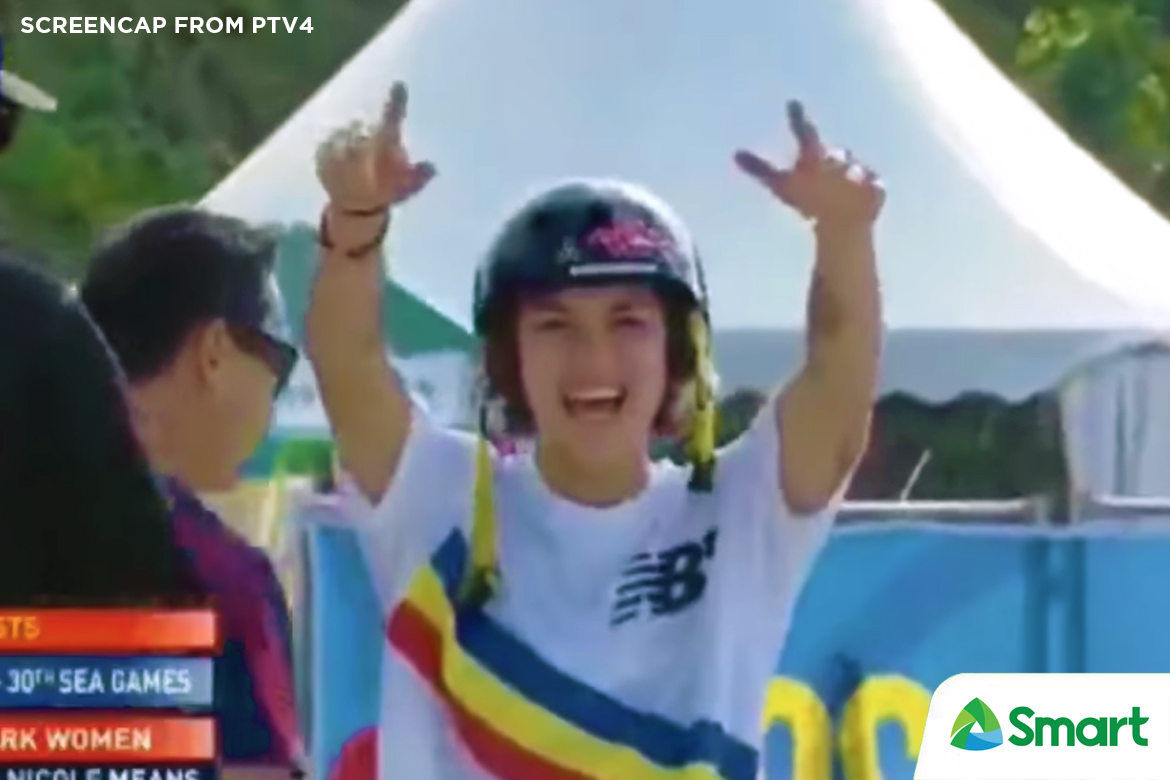 Tiebreaker Times Means, Francisco prove worth, rule SEAG park event 2019 SEA Games News Skateboarding  Kiko Francisco Christiana Means 2019 SEA Games - Skateboarding 2019 SEA Games