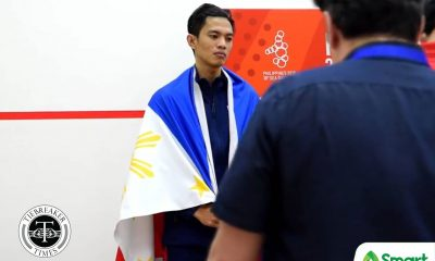Tiebreaker Times PH's last squash hope Robert Garcia falters in SEA Games final 2019 SEA Games News Squash  Robert Garcia Muhr Addeen Indrakie Jemyca Aribado 2019 SEA Games - Squash 2019 SEA Games