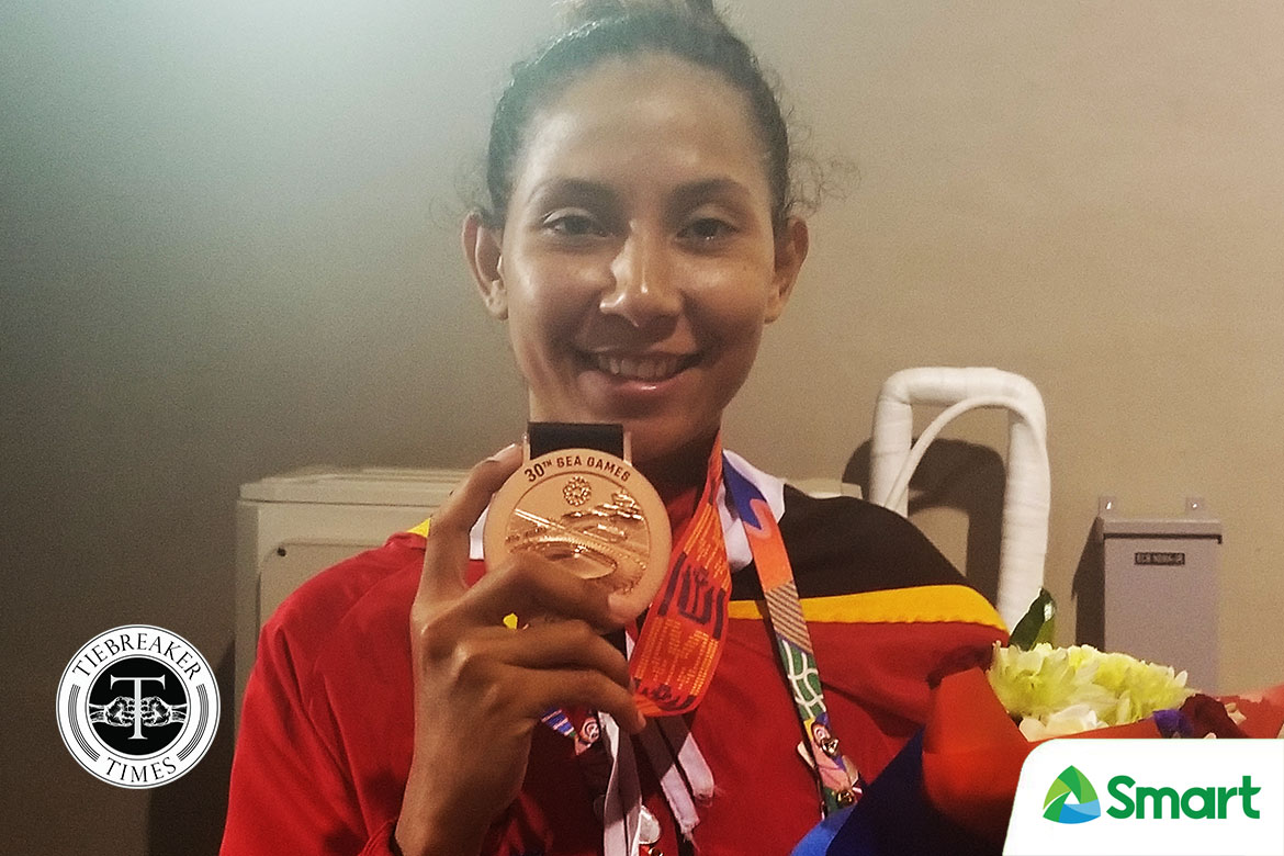 Tiebreaker Times Imbrolia Amorin emotional after winning Timor Leste's first SEAG medal 2019 SEA Games News Taekwondo  Imbrolia Amorin 2019 SEA Games - Taekwondo 2019 SEA Games