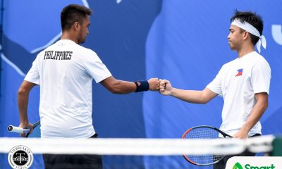 Tiebreaker Times Alcantara-Patrombon defeats Huey-Gonzales in all-Filipino SEAG tennis finals 2019 SEA Games News Tennis  Treat Huey Ruben Gonzales Jeson Patrombon Francis Alcantara 2019 SEA Games - Tennis 2019 SEA Games