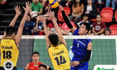 Tiebreaker Times Bagunas powers PMNVT's sweep of Vietnam, head to SEAG semis 2019 SEA Games News Volleyball  Vietnam (Volleyball) Thanh Thuan Tu Philippine Men's National Volleyball Team Marck Espejo Kim Malabunga John Vic De Guzman Francis Saura Dante Alinsunurin Bryan Bagunas 2019 SEA Games - Volleyball 2019 SEA Games