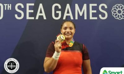 Tiebreaker Times Kristel Macrohon snags PH Weightlifting second SEA Games gold 2019 SEA Games News Weightlifting  Kristel Macrohon 2019 SEA Games - Weightlifting 2019 SEA Games