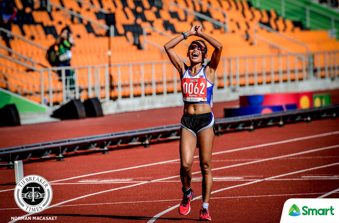 Tiebreaker Times SEAG 'Queen' Christine Hallasgo can finally go home to her princess 2019 SEA Games News Track & Field  christine hallasgo 2019 SEA Games - Athletics 2019 SEA Games