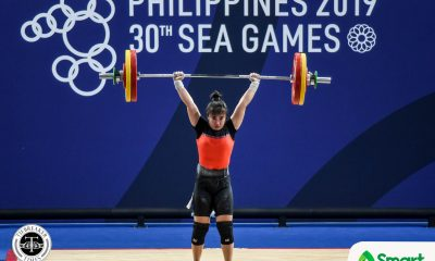 Tiebreaker Times Nestor Colonia cops first SEAG medal as cousin Margaret takes silver 2019 SEA Games News Weightlifting  Nester Colonia Margaret Colonia Hoang Thi Duyen Elreen Ando 2019 SEA Games - Weightlifting 2019 SEA Games