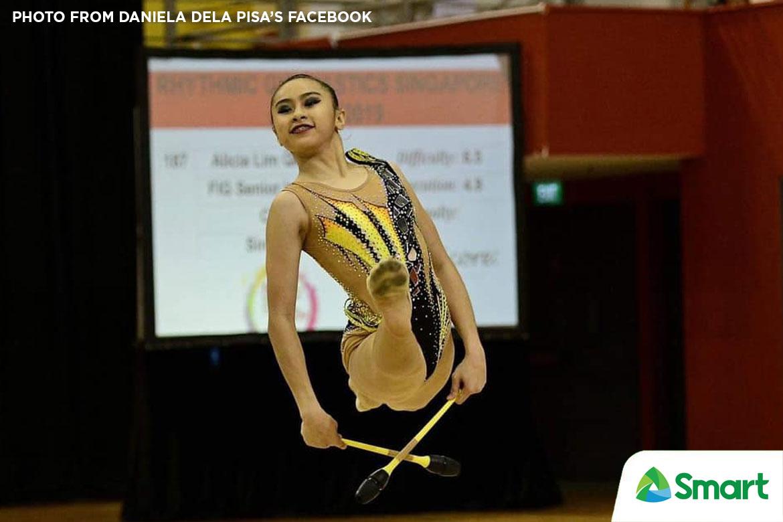 Tiebreaker Times Daniela Dela Pisa shines bright in SEAG rhythmic gymnastics, wins hoops gold 2019 SEA Games Gymnastics News  Daniela Dela Pisa 2019 SEA Games - Gymnastics 2019 SEA Games