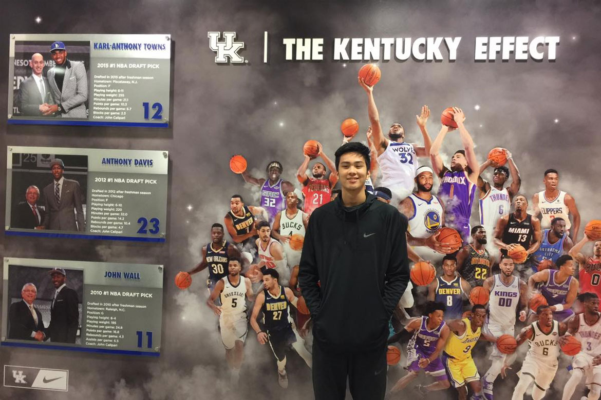 Tiebreaker Times Kai Sotto makes unofficial visit to University of Kentucky Basketball News  University of Kentucky Wildcats Kai Sotto