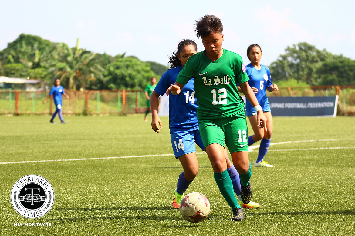 PFFWL-2019-Wk-17-M3-DLSU-def-Tuloy-Teves La Salle, UAAP teams close out year flexing muscles in PFFWL DLSU FEU Football News PFF Women's League UP UST  - philippine sports news