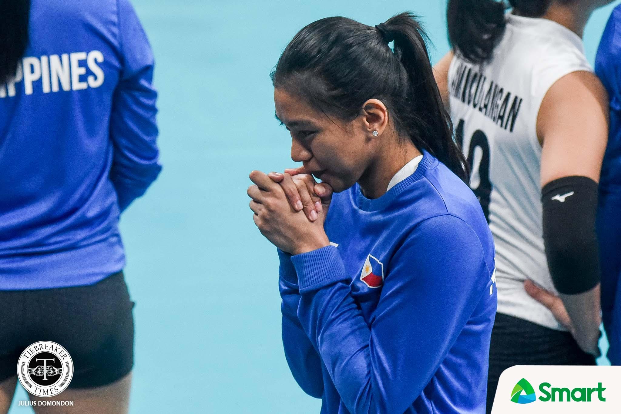 Tiebreaker Times Alyssa Valdez suffers from stomach illness vs Indonesia 2019 SEA Games News Volleyball  Alyssa Valdez Aby Marano 2019 SEA Games - Volleyball 2019 SEA Games