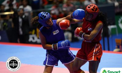 Tiebreaker Times Gina Iniong dominates Thai opponent for SEAG kickboxing gold 2019 SEA Games Kickboxing News  Gina Iniong 2019 SEA Games - Kickboxing 2019 SEA Games