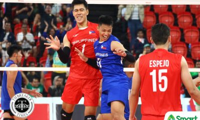 Tiebreaker Times Joshua Retamar steers Philippines sweep of Cambodia to open SEA Games campaign 2019 SEA Games News Volleyball  Marck Espejo Kim Malabunga Joshua Retamar Jack Kalingking Dante Alinsunurin Cambodia (Volleyball) Bryan Bagunas 2019 SEA Games - Volleyball 2019 SEA Games