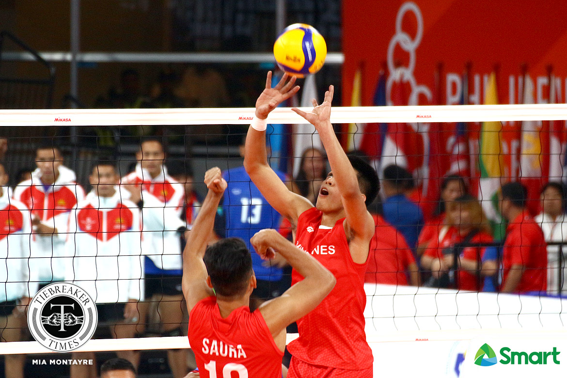 Tiebreaker Times Joshua Retamar vindicates Alinsunurin's decision to choose him 2019 SEA Games News Volleyball  Philippine Men's National Volleyball Team Joshua Retamar Dante Alinsunurin 2019 SEA Games - Volleyball 2019 SEA Games