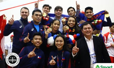 Tiebreaker Times PH Squash sweeps way to first-ever SEAG gold 2019 SEA Games News Squash  Robert Garcia Jemyca Aribado 2019 SEA Games - Squash 2019 SEA Games