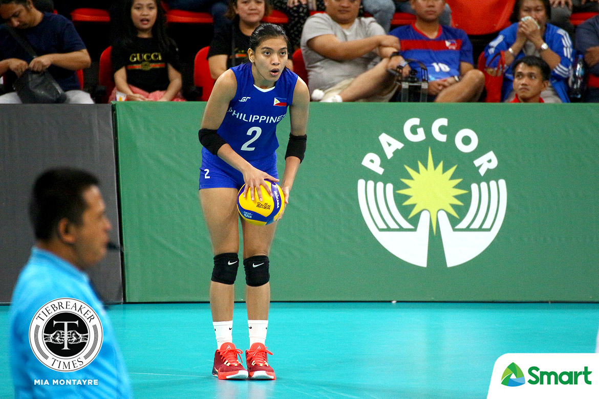 Tiebreaker Times Alyssa Valdez firmly believes PWNVT can one day take down ASEAN giants 2019 SEA Games News Volleyball  Philippine Women's National Volleyball Team Alyssa Valdez 2019 SEA Games - Volleyball 2019 SEA Games