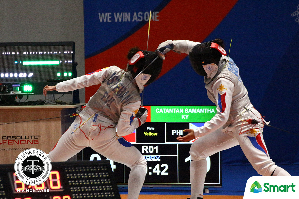 Tiebreaker Times Samantha Catantan saddened to have faced Esteban in SEAG Fencing 2019 SEA Games Fencing News  Samantha Catantan Maxine Esteban 2019 SEA Games - Fencing 2019 SEA Games