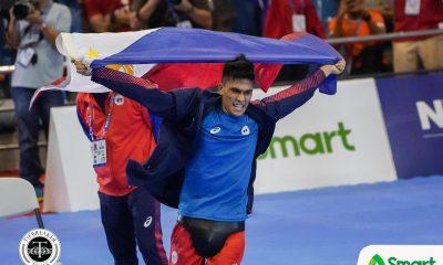 Tiebreaker Times Philippines sweeps SEA Games Men's Arnis events 2019 SEA Games Arnis News  Villardo Cunamay Philippine Men's National Arnis Team Niño Mark Talledo Mike Bañares Dexler Bolambao 2019 SEA Games - Arnis 2019 SEA Games