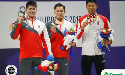 Tiebreaker Times Schooling falls to teammate in SEA Games 50m butterfly 2019 SEA Games News Swimming  Xiandi Chua Tzen Wei Teong Remedy Rule Nicole Oliva Joseph Schooling Jasmine Alkahldi 2019 SEA Games - Swimming 2019 SEA Games