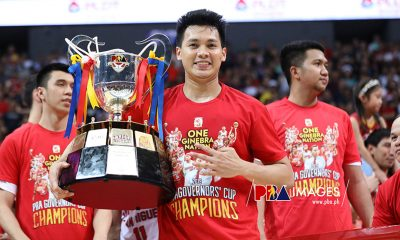 Tiebreaker Times Scottie Thompson deserves to be co-Finals MVP, says Tim Cone Basketball News PBA  Tim Cone Scottie Thompson PBA Season 44 Barangay Ginebra San Miguel 2019 PBA Governors Cup