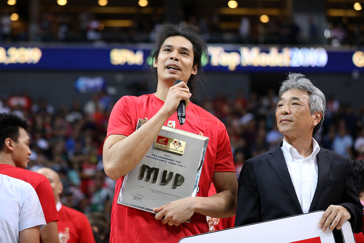 Tiebreaker Times Japeth Aguilar grateful for Ginebra's patience that led to Finals MVP Basketball News PBA  PBA Season 44 Japeth Aguilar Barangay Ginebra San Miguel 2019 PBA Governors Cup