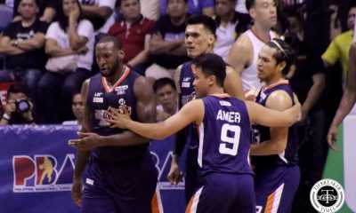 Tiebreaker Times Allen Durham on Japeth Aguilar's block: 'I thought that was a foul' Basketball News PBA  PBA Season 44 Meralco Bolts Japeth Aguilar Allen Durham 2019 PBA Governors Cup