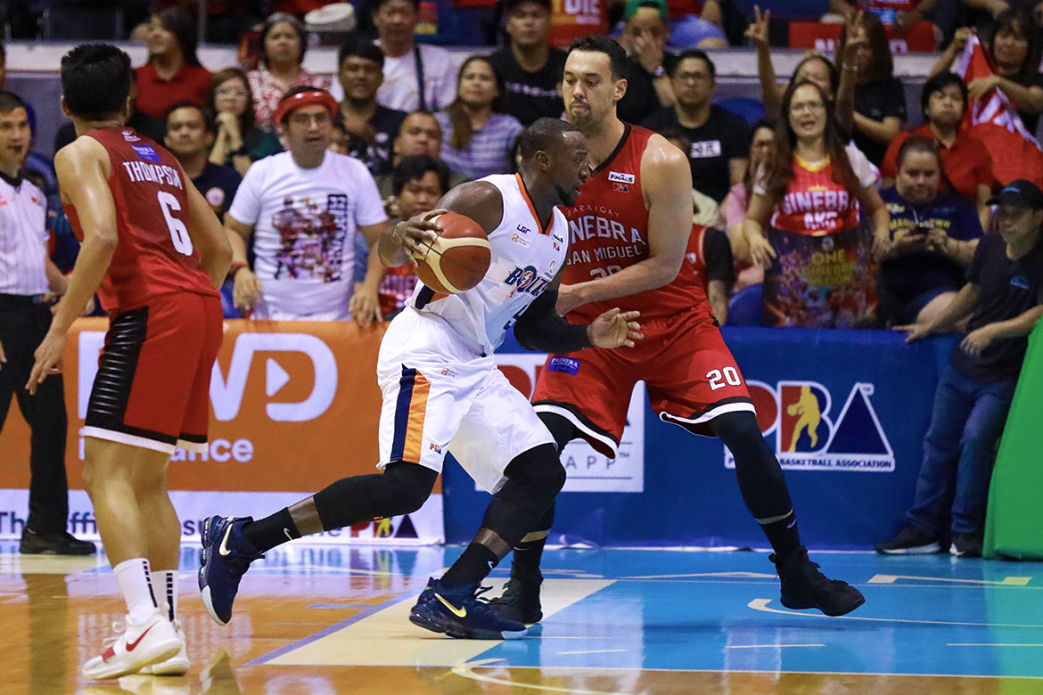 "Tiebreaker Times Allen Durham on embarrassing Game Four loss: 'Everybody played like sh**"" Basketball News PBA  PBA Season 44 Meralco Bolts Allen Durham 2019 PBA Governors Cup"