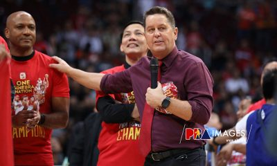 Tiebreaker Times Tim Cone pays tribute to assistant coaches for title no. 22 Basketball News  Tim Cone Richard del Rosario PBA Season 44 Olsen Racela Kirk Collier Freddie Abuda Barangay Ginebra San Miguel 2019 PBA Governors Cup