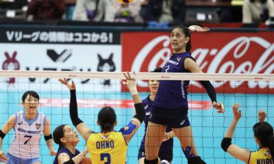 Tiebreaker Times Jaja Santiago, Ageo Medics bid Japan V. Premier League title hopes goodbye News Volleyball  Jaja Santiago Ageo Medics 2019-20 Japan V. Premier League season