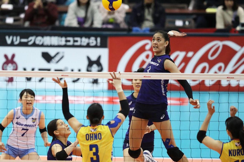Tiebreaker Times Jaja Santiago, Ageo Medics bid Japan V. Premier League title hopes goodbye News Volleyball  Jaja Santiago Ageo Medics 2019-20 Japan V. Premier League season