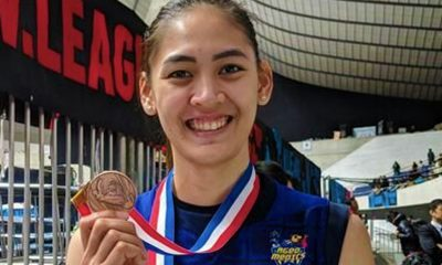 Tiebreaker Times Jaja Santiago becomes first Filipino spiker to cop medal in foreign league News Volleyball  Saitama Ageo Medics Jaja Santiago 2019-20 Japan V. Premier League season