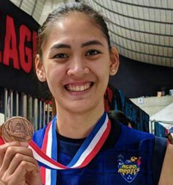 Tiebreaker Times Jaja Santiago becomes first Filipino spiker to cop medal in foreign league News Volleyball  Saitama Ageo Medics Jaja Santiago 2019-20 Japan V. Premier League season