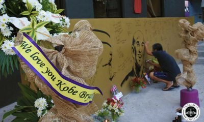 Tiebreaker Times Prayers, flowers, candles offered to Kobe Bryant in Valenzuela court Basketball News  Kobe Bryant House of Kobe