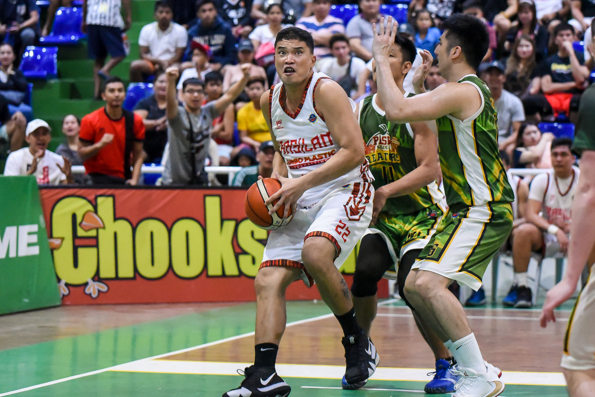 Tiebreaker Times Daa powers Basilan to OT win over Pasig, gains solo fourth in MPBL South Basketball MPBL News  Pasig-Sta. Lucia Realtors Leo Najorda Leo Gabo Jonathan Uyloan Jhaps Bautista Jerson Cabiltes Jeric Teng Gab Dagangon Dennis Daa Basilan Steel 2019-20 MPBL Lakan Cup