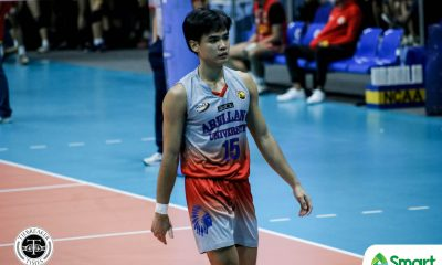Tiebreaker Times Dela Paz explodes for 29 vs San Sebastian, keeps Arellano Chiefs unblemished in NCAA 95 AU Basketball NCAA News SSC-R  Sherwin Meneses San Sebastian Men's Volleyball Reynald Honra Norvie Labuga NCAA Season 95 Men's Volleyball NCAA Season 95 Julius Lana Joshua Esguerra Jesrael Liberato Edmark Meneses Dominique Ramirez Demy Lapuz Christian dela Paz Arellano Men's Volleyball Aldre Ferrer